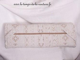 housse fauteuil beige rayure couture dijon décoration ameublement création