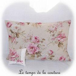 housse coussin beige rose vert dijon gien chatillon loire couture création décoration ameublement fait main le temps de la couture