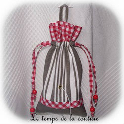 cuisine sac ficelle blanc gris taupe toile matelas dijon gien chatillon loire couture création décoration ameublement fait main le temps de la couture