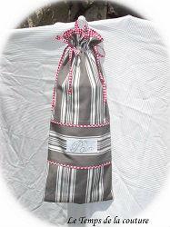 cuisine sac pain gris taupe blanc rouge toile matelas dijon gien chatillon loire couture création décoration ameublement fait main le temps de la couture