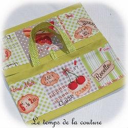 sac tarte vert anis rouge gris ocre gateau quiche tarte pratique dijon gien chatillon loire couture création décoration ameublement fait main le temps de la couture