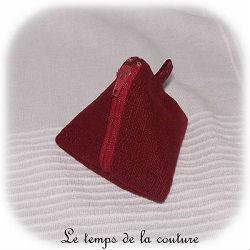 pochette berligot zippé bordeaux dijon gien chatillon loire couture création décoration ameublement fait main le temps de la couture