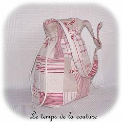sac main seau ecru beige rouge sommbre bordeaux volume dijon gien chatillon loire couture création décoration ameublement fait main le temps de la couture