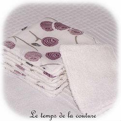 salle de bain lingette bambou pratique blanc violet fleur dijon gien chatillon loire couture création décoration ameublement fait main le temps de la couture