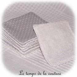 salle de bain lingette bambou pratique gris pois blanc dijon gien chatillon loire couture création décoration ameublement fait main le temps de la couture
